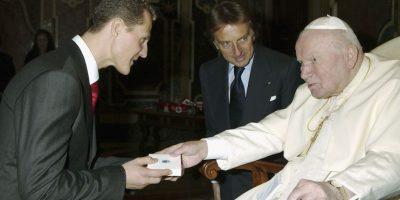 Visitó al Papa Juan Pablo II. Foto:Getty Images