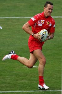 También practicó el rugby. Foto:Getty Images