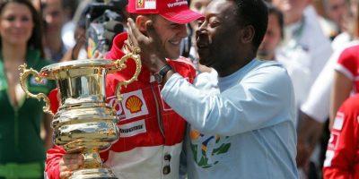 Fue felicitado en una ocasión por el futbolista brasileño Pelé. Foto:Getty Images
