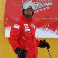 Con los esquís. Foto:Getty Images