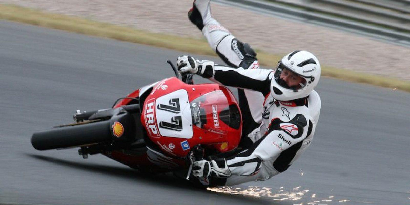 Alguna vez se cayó de la motocicleta. Foto:Getty Images