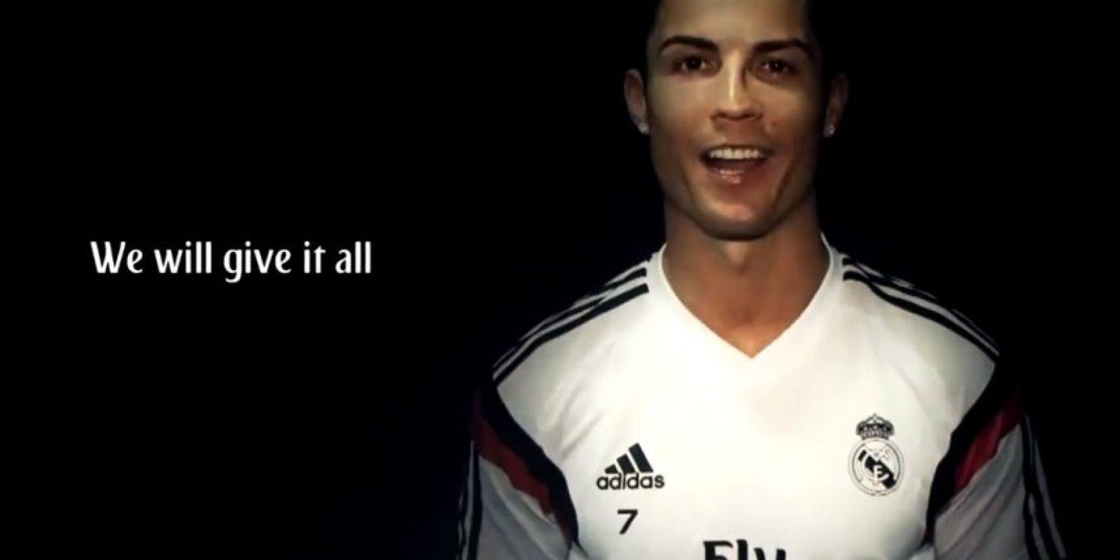 Los jugadores merengues, como el portugués Cristiano Ronaldo, invitan a sus hinchas a apoyarlos en el Santiago Bernabéu Foto:Youtube: ToreTToHDTV