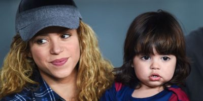 Milan, hijo de Shakira y Piqué, es vestido con los colores blaugranas. Foto:Getty Images