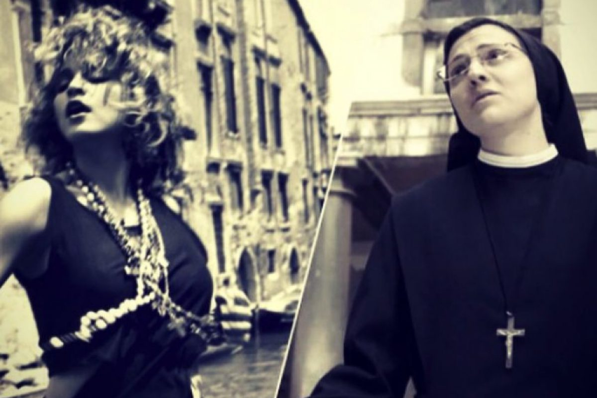 """Madonna sorprendió a sus fans de Instagram al publicar está comparación entre su versión de """"Like a Virgin"""" y la de Sor Cristina. Foto:Instagram/Madonna"""
