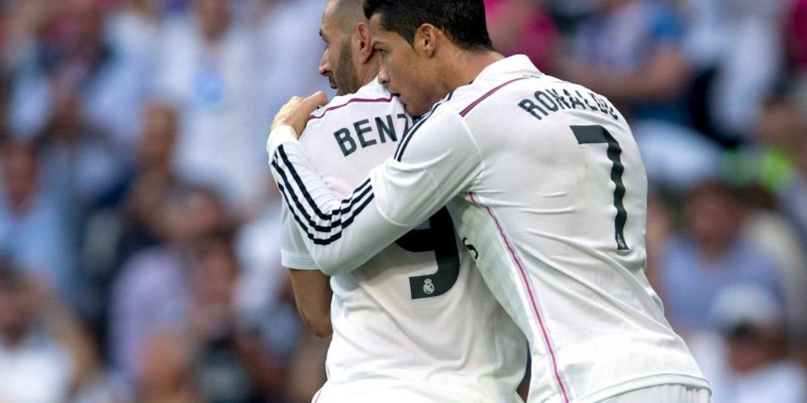 Celebrando con Benzama el 3-1 Foto:Getty Images