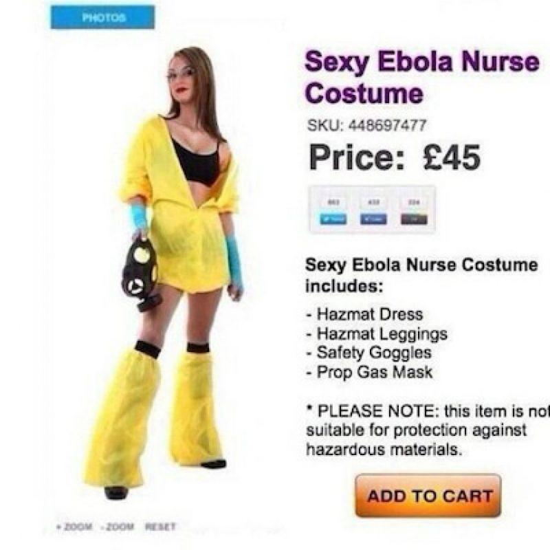 Disfraz de enfermera sexy de Ébola Foto:Twitter