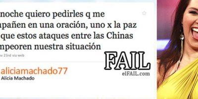 Alicia Machado se equivocó con Corea del Norte y Sur Foto:Fail.com