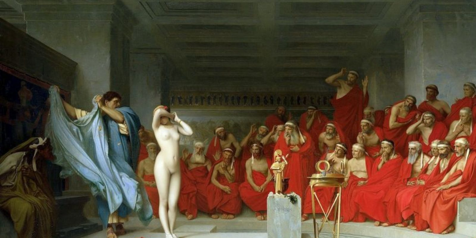 Friné, antigua Grecia. La desnudaron para defenderla ante un juicio por blasfemia. Foto:Wikipedia