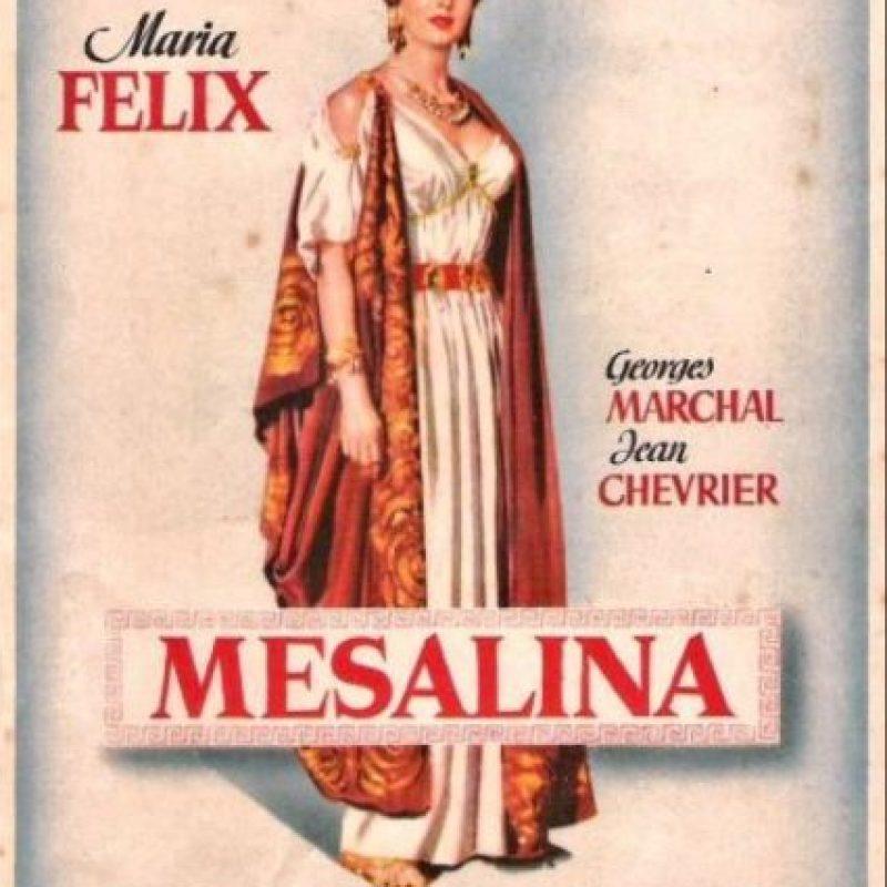 Mesalina, emperatriz romana. La leyenda dice que se acostó en una noche con 70 hombres. Foto:Filmaffinity