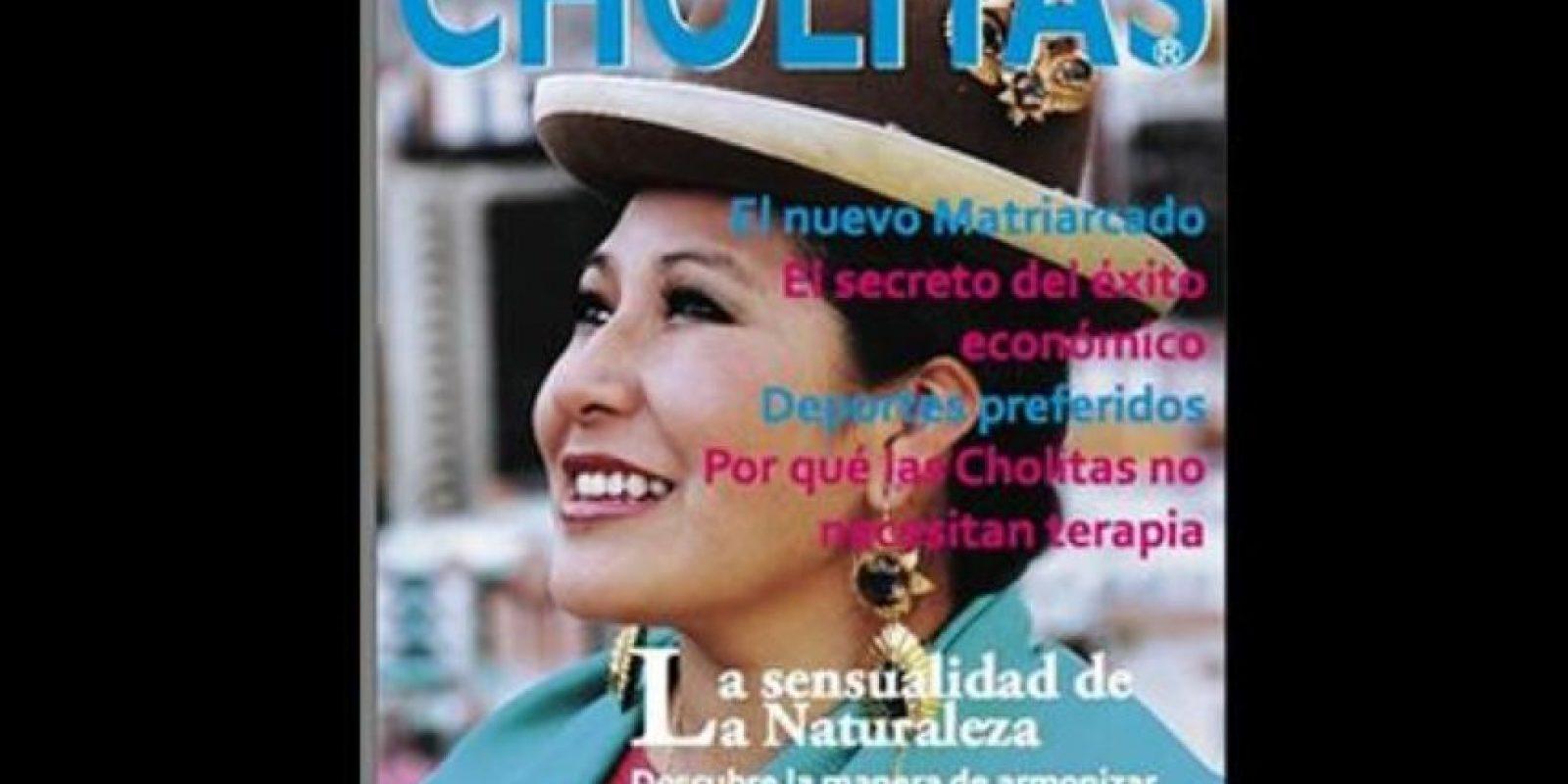 """""""Cholitas"""" es una revista de moda para las mujeres bolivianas que pertenecen a esta etiqueta racial y comunidad Foto:Twitter"""