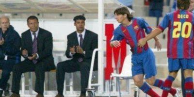Lionel Messi debutó hace 10 años con el Barcelona Foto:Getty