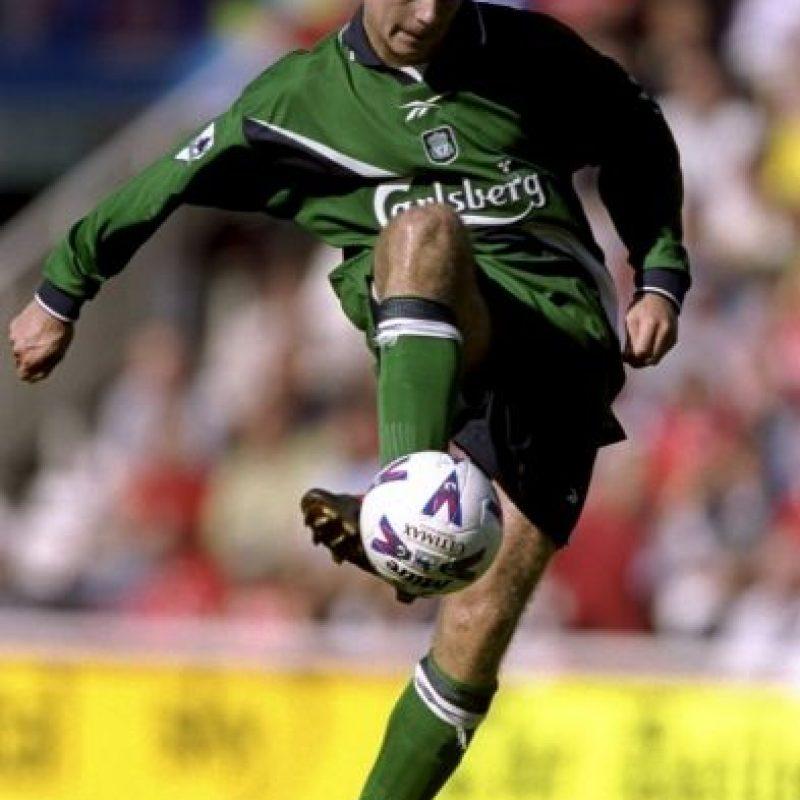Steven Gerrard debutó a los 18 años con el Liverpool Foto:Getty
