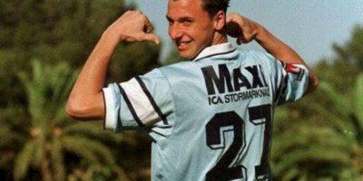 Así se veía Zlatan cuando militaba en el Malmö de su natal Suecia en 1999 Foto:Twitter