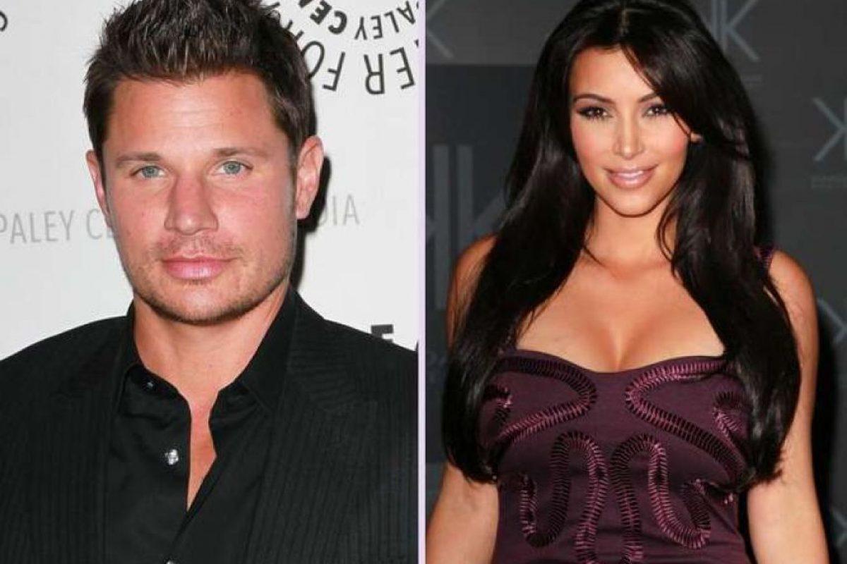 Kim Kardashian y Nick Lachey. Kim ha logrado seducir a más de uno, y el ex de Jessica Simpson fue uno de ellos pero como varios de sus romances fue algo pasajero. Foto:Getty Images