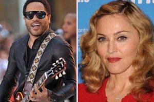 """Lenny Kravitz y Madonna. Una pareja de cantantes muy """"hot"""", estuvieron saliendo y hasta cantaron a dúo. Foto:Getty Images"""