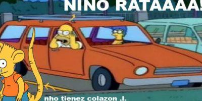 Su nombre e imagen fueron inspirados en Bart Simpson, cuando se convierte en rata Foto:Taringa