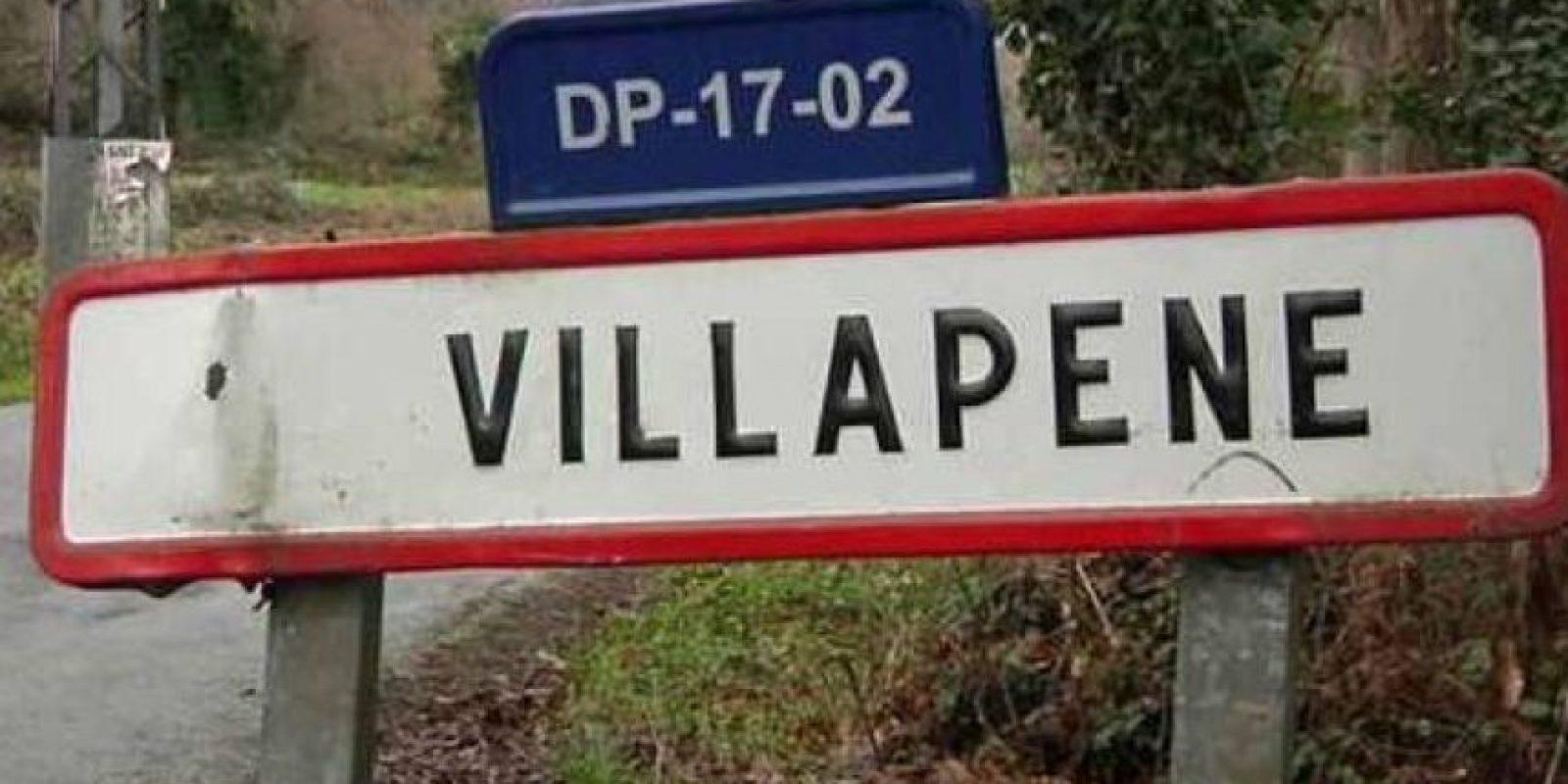 Y el aviso de VillaPene Foto:Wikipedia