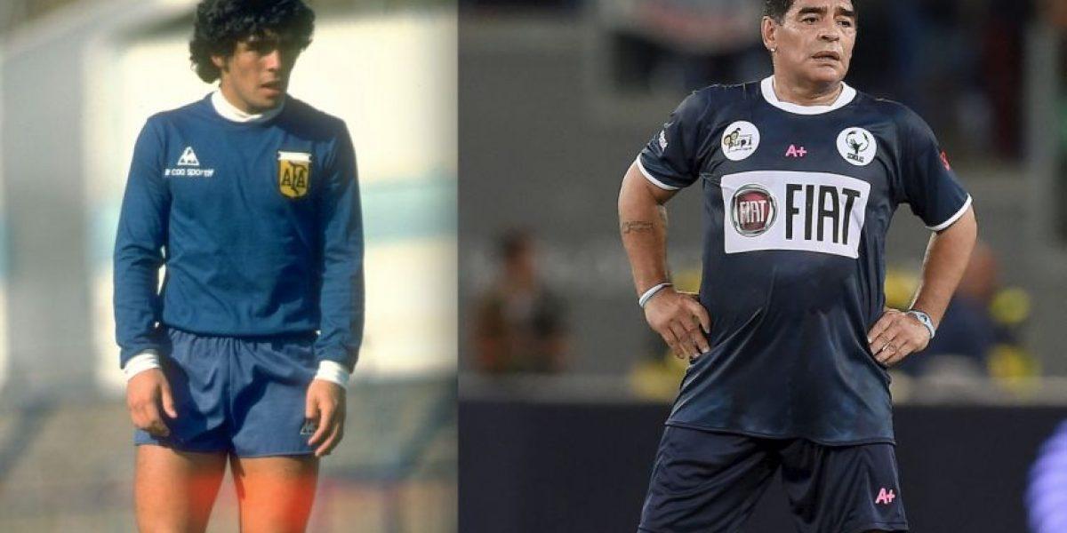 ¡Feliz cumpleaños Maradona! Este es el drástico cambio físico de