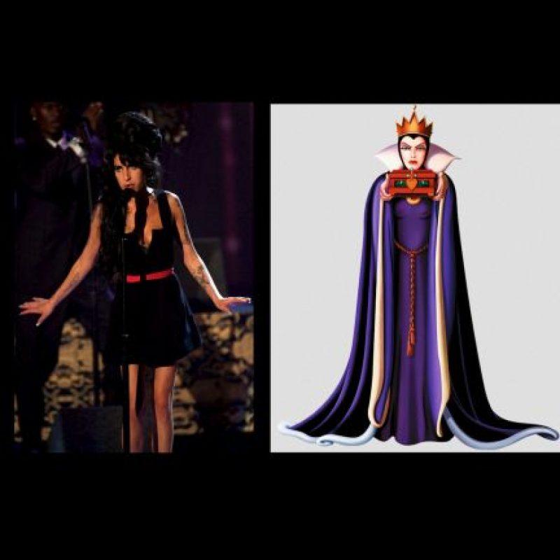 "Amy Winehouse + ""La reina malvada"", de ""Blancanieves"" Foto:Getty / IMDB"