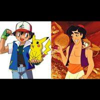 """""""Ash Ketchum"""" y """"Pikachu"""", de """"Pokemon"""" + """"Aladino"""" y """"Abu"""" Foto:IMDB / IMDB"""
