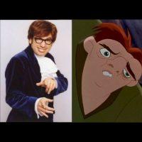 """""""Austin Powers"""" + """"Quasimodo"""", de """"El jorobado de Notre Dame"""" Foto:IMDB / IMDB"""