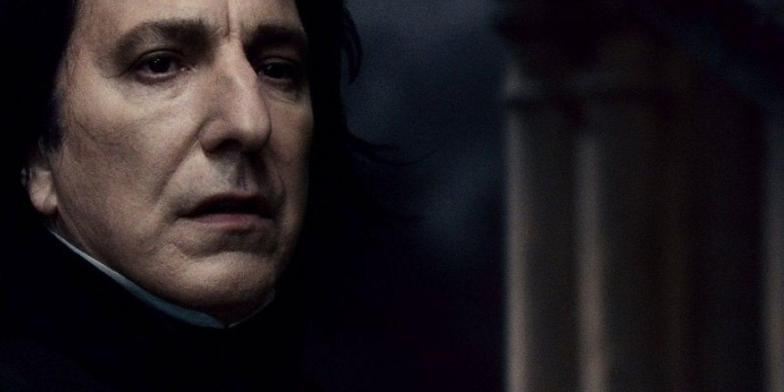 Severus Snape hizo sufrir en muchas ocasiones a Harry Potter. Foto:Warner Bros.