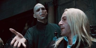 Voldemort y Lucius Malfoy. Foto:Warner Bros.