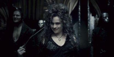 Bellatrix Lestrange junto a otros mortifagos. Foto:Warner Bros.
