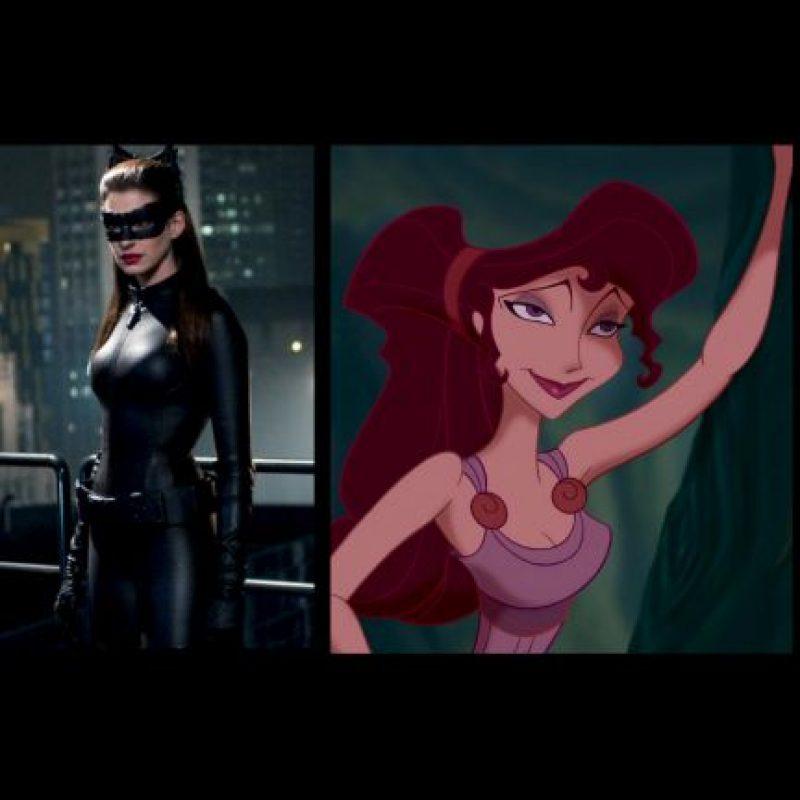 """Gatúbela"", de ""Batman"" + ""Megara"", de ""Hércules"" Foto:IMDB / IMDB"
