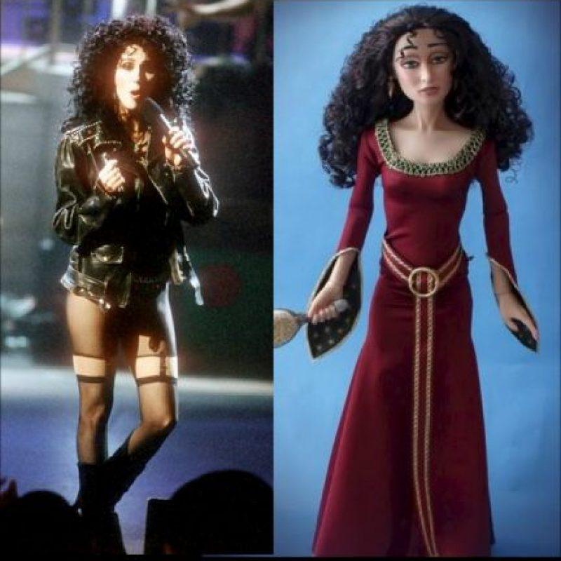 "Cher y ""Gothel"", de ""Rapunzel"" Foto:Getty / IMDB"