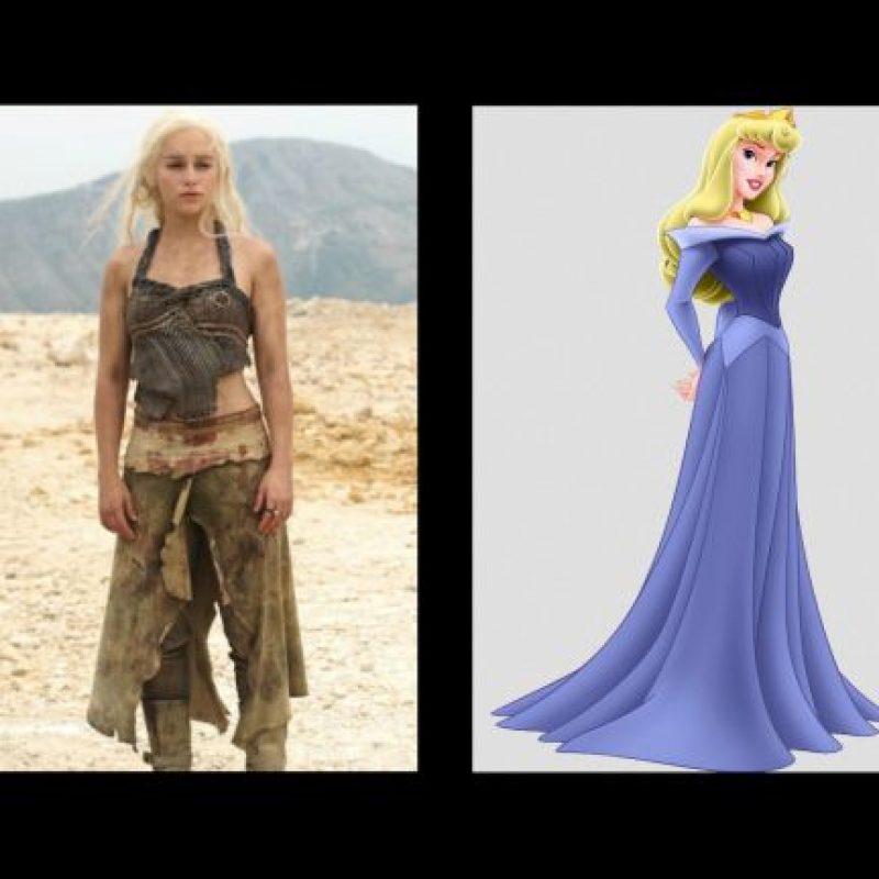 """""""Daenerys Targaryen"""", de """"Game of Thrones"""" y """"Aurora"""", de """"La bella durmiente"""" Foto:IMDB / IMDB"""