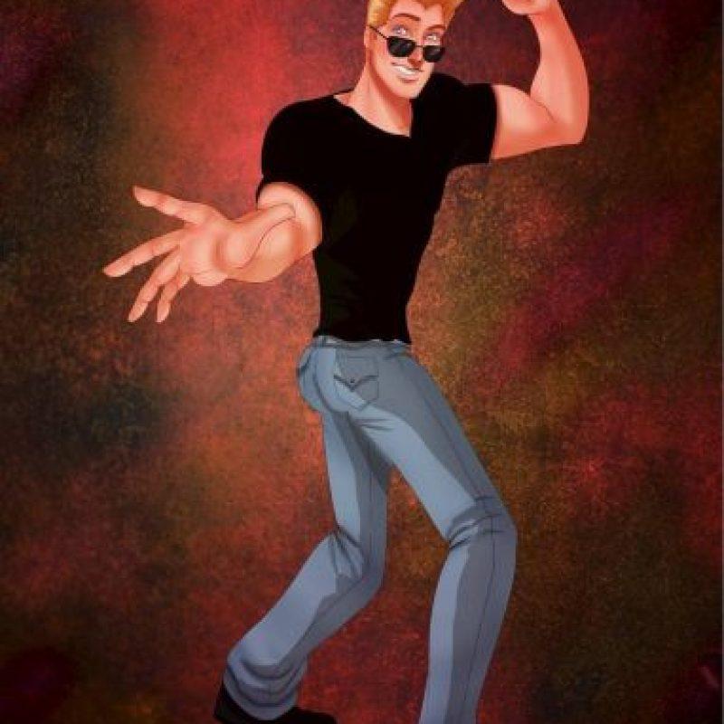 """""""John Smith"""", de """"Pocahontas"""", disfrazado de """"Johnny Bravo"""" Foto:Isaiah Stephens vía Facebook"""