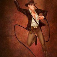 """""""El príncipe Felipe"""", de """"La bella durmiente"""", disfrazado de """"Indiana Jones"""" Foto:Isaiah Stephens vía Facebook"""
