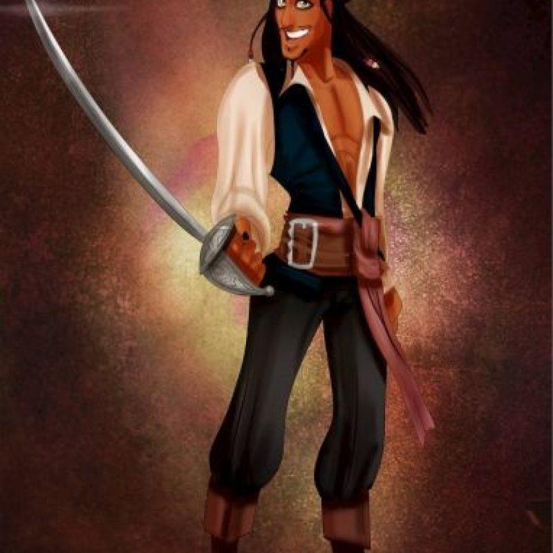 """""""Príncipe Eric"""", de """"La Sirenita"""", disfrazado de """"Jack Sparrow"""", de """"Piratas del Caribe"""" Foto:Isaiah Stephens vía Facebook"""