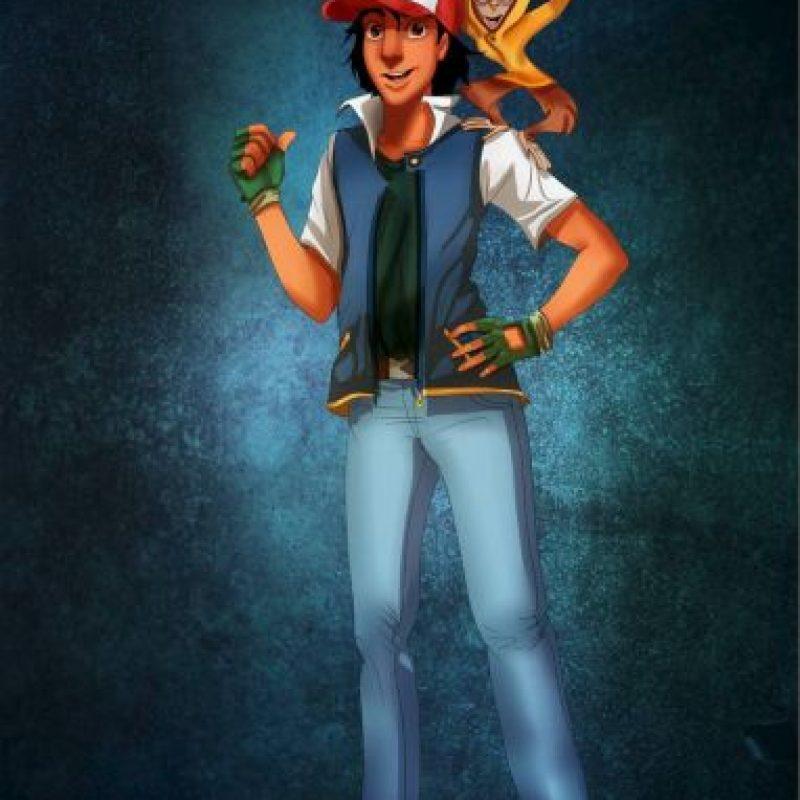 """""""Aladino"""" y """"Abu"""" disfrazados de """"Ash Ketchum"""" y """"Pikachu"""", de """"Pokemon"""" Foto:Isaiah Stephens vía Facebook"""