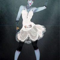 """""""Maléfica"""", de """"La bella durmiente"""", disfrazada de Madonna Foto:Isaiah Stephens vía Facebook"""