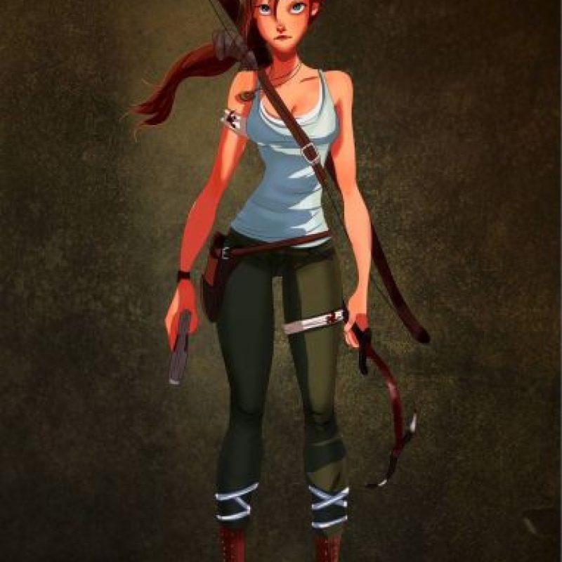 """""""Jane"""", de """"Tarzan"""", disfrazada de """"Lara Croft"""", de """"Tomb Raider"""" Foto:Isaiah Stephens vía Facebook"""
