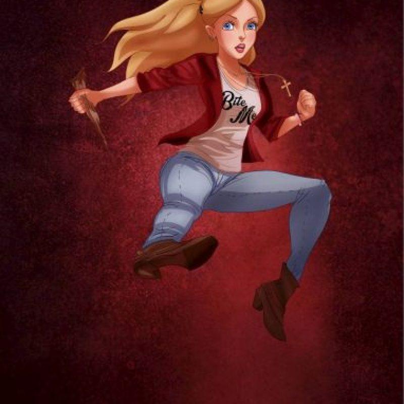"""""""Alicia"""", disfrazada de """"Buffy, la cazavampiros"""" Foto:Isaiah Stephens vía Facebook"""