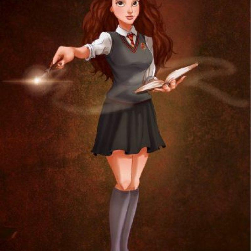 """""""Bella"""", de """"La Bella y la Bestia"""", disfrazada de """"Hermione"""", de """"Harry Potter"""" Foto:Isaiah Stephens vía Facebook"""