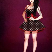 """Amy Winehouse disfrazada de """"La reina malvada"""", de """"Blancanieves"""" Foto:Isaiah Stephens vía Facebook"""