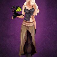 """""""Aurora"""", de """"La bella durmiente"""" disfrazada de """"Daenerys Targaryen"""", de """"Game of Thrones"""" Foto:Isaiah Stephens vía Facebook"""
