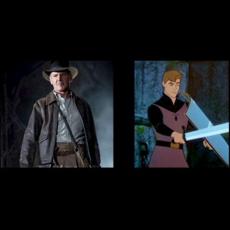 """""""Indiana Jones"""" y """"El príncipe Felipe"""", de """"La bella durmiente"""" Foto:IMDB / IMDB"""