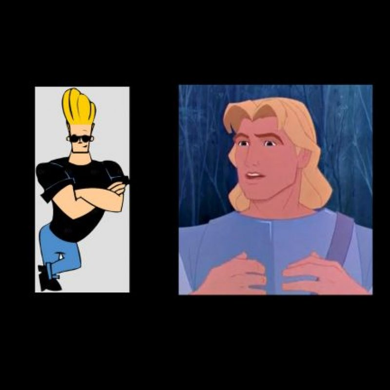 """Johnny Bravo"" + ""John Smith"", de ""Pocahontas"" Foto: Wikipedia / IMDB"