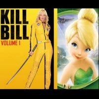 """""""La novia"""", de """"Kill Bill"""" + """"Campanita"""", de """"Peter Pan"""" Foto:IMDB / IMDB"""