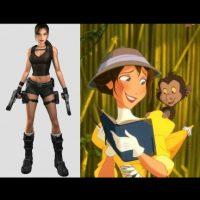 """Lara Croft"", de ""Tomb Raider"" + ""Jane"", de ""Tarzan"" Foto:IMDB / IMDB"