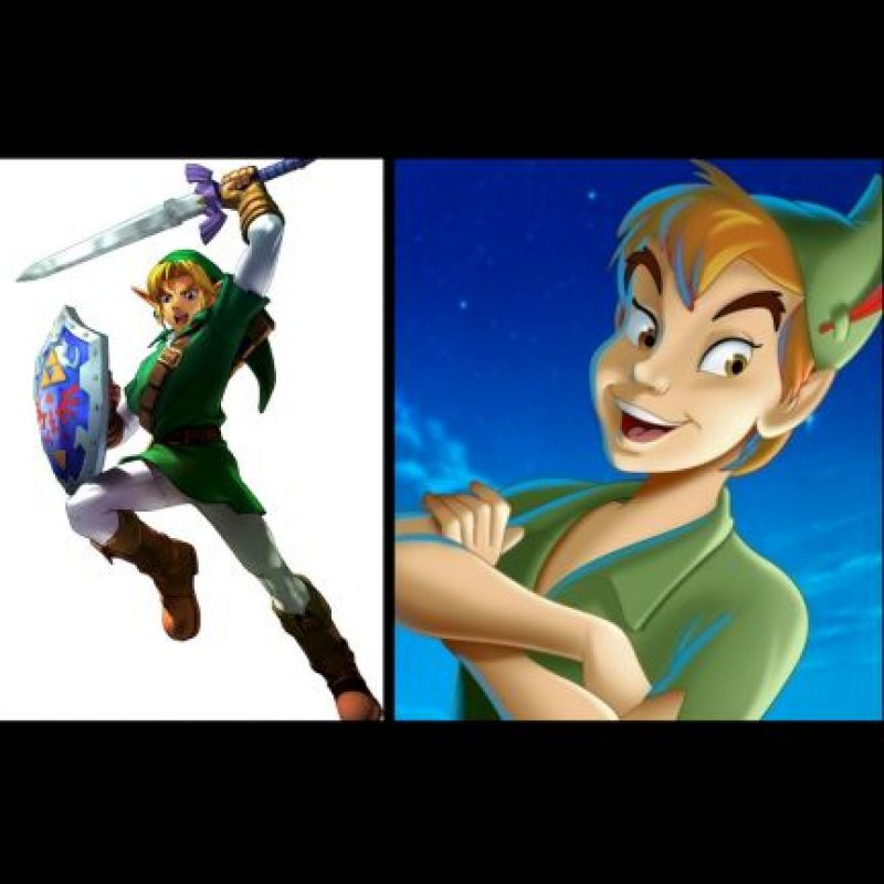 """""""Link"""", de """"Zelda"""" + """"Peter Pan"""" Foto:Wikipedia / IMDB"""