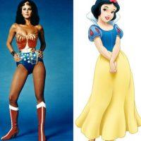 """""""La mujer maravilla"""" + """"Blancanieves"""" Foto:IMDB / IMDB"""