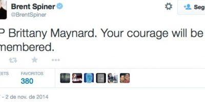"""Tu valor será recordado"", escribió el actor de ""Star Trek"", Brent Spiner Foto:Twitter"