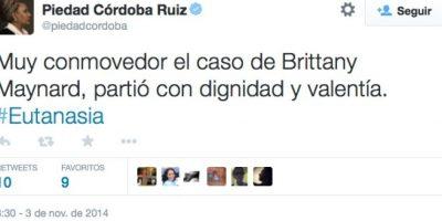 Esto publicó la defensora de Derechos Humanos, Piedad Córdoba Foto:Twitter
