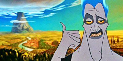 Cínico y neurótico, esta es la representación de Disney del dios de la muerte griego. Foto:Disney